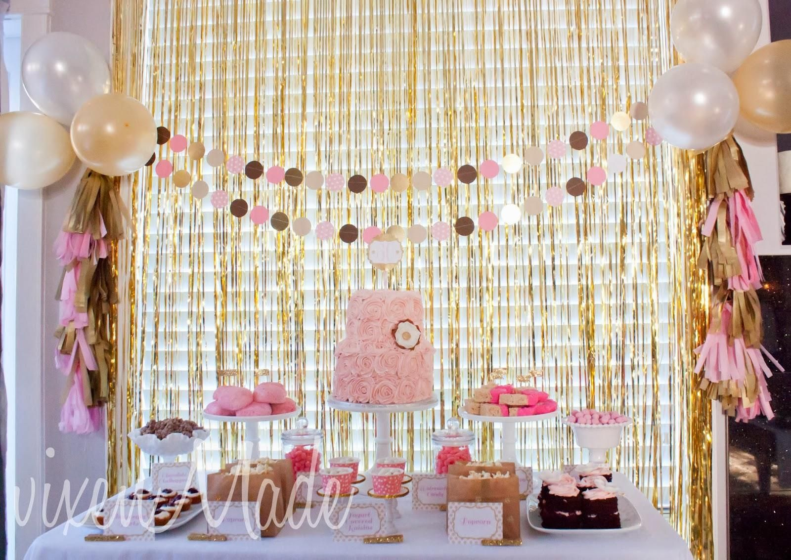 Pink Gold 60th Birthday Party