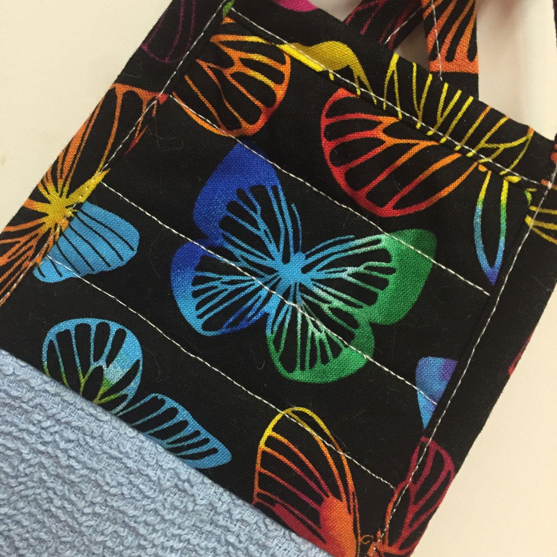 Butterfly Kitchen Towel,Butterfly Dish Towel,Butterfly Decor,Butterfly Hand  Towel,Blue