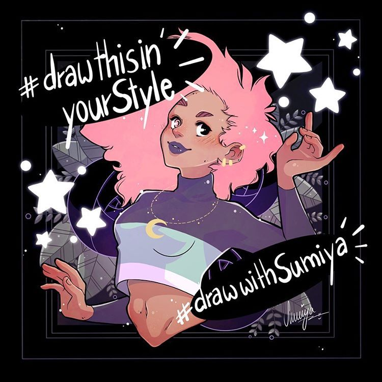 """Sumiya 🌸 Doro on Instagram: """"Well. I thought about it. And I wanted to do it. So now I'm doing it. 🙈  Here's my own #drawthisinyourstyle challenge!  I never said thanks…"""""""