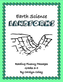 Differentiated Reading Passages to Improve Fluency Earth Science  Landforms