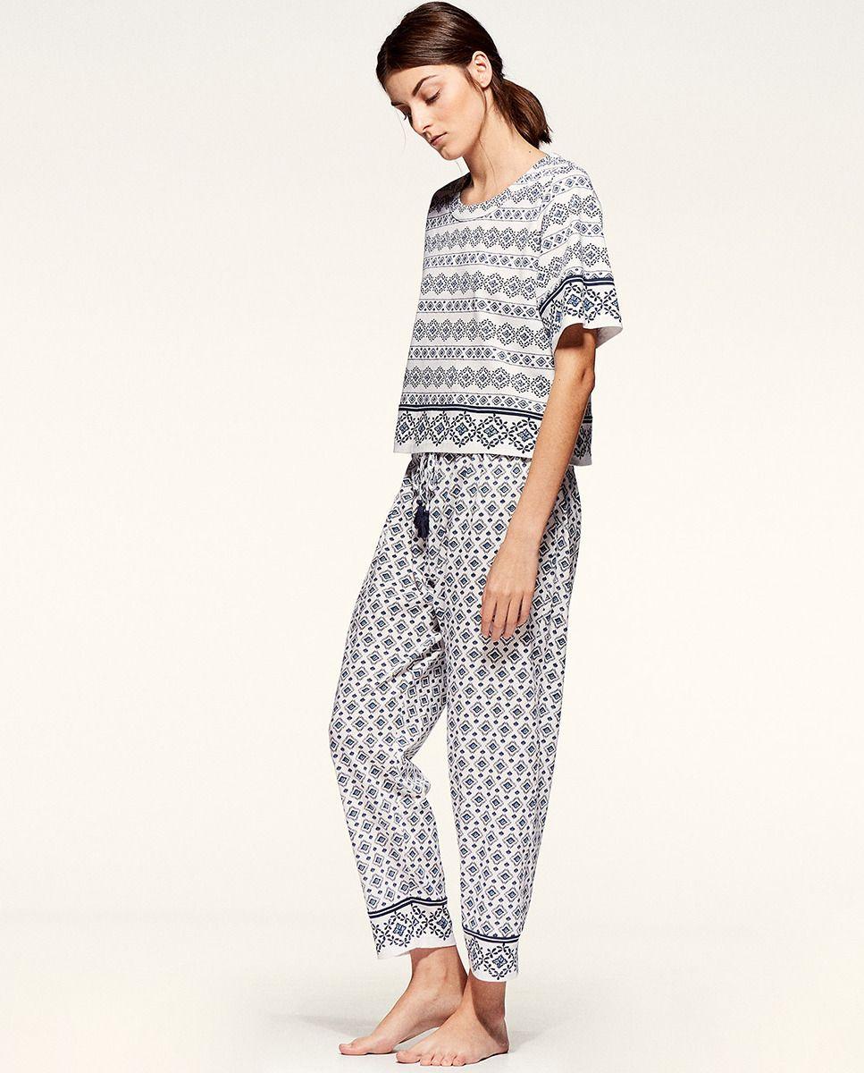 b1934bb8dce Pijama de mujer SFERA largo estampado  las 2 piezas se venden por separado   -