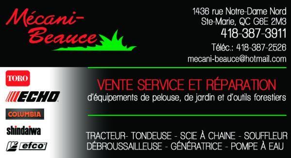 Mecani Beauce Inc Sainte Marie Beauce Vente Service Et Reparation D Equipements De Pelouse Jardins Et D Outils Forestiers Tracteur Tondeuse Scie A Chaine