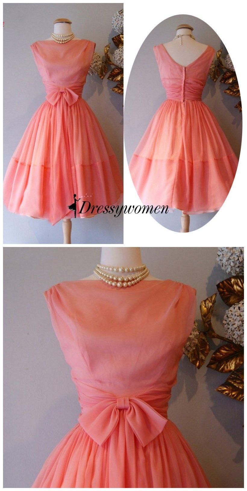 Vintage s dress s vintage dress short coral dress with