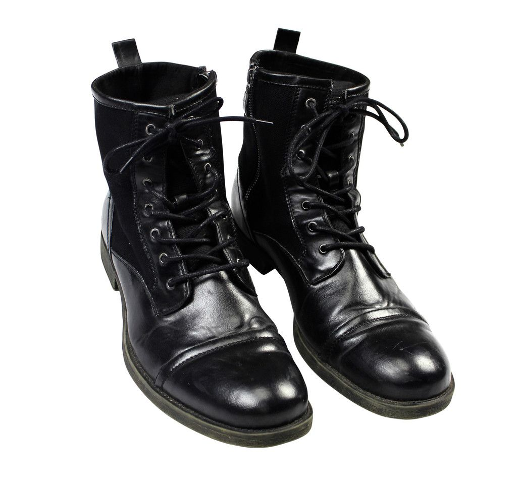 bcbdc03b5b9 Guess MGCALEN Military Style Cap Toe Boots in Black Mens Size 12 ...