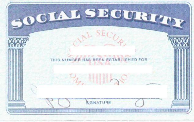 Social Security Card Template Social Security Card Card Template Id Card Template