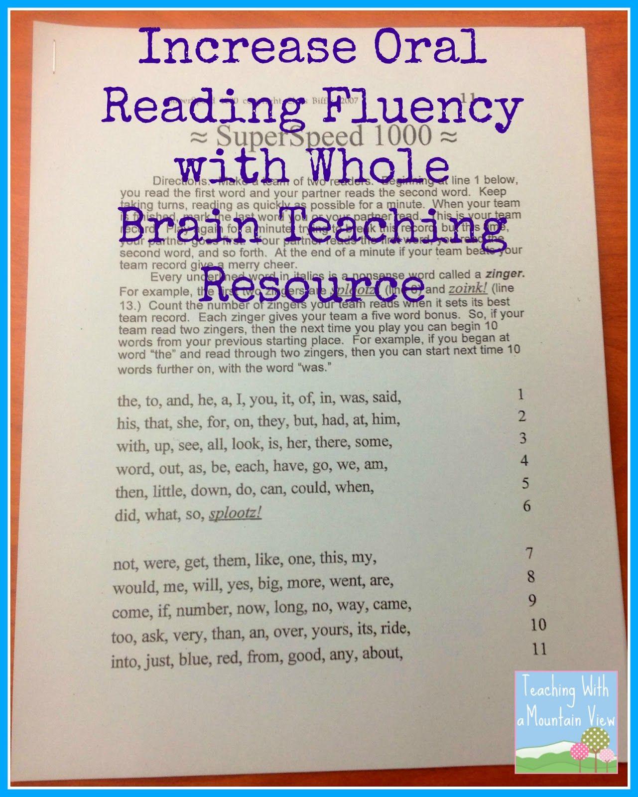 Pin On Reading Fluency Free printable oral reading fluency