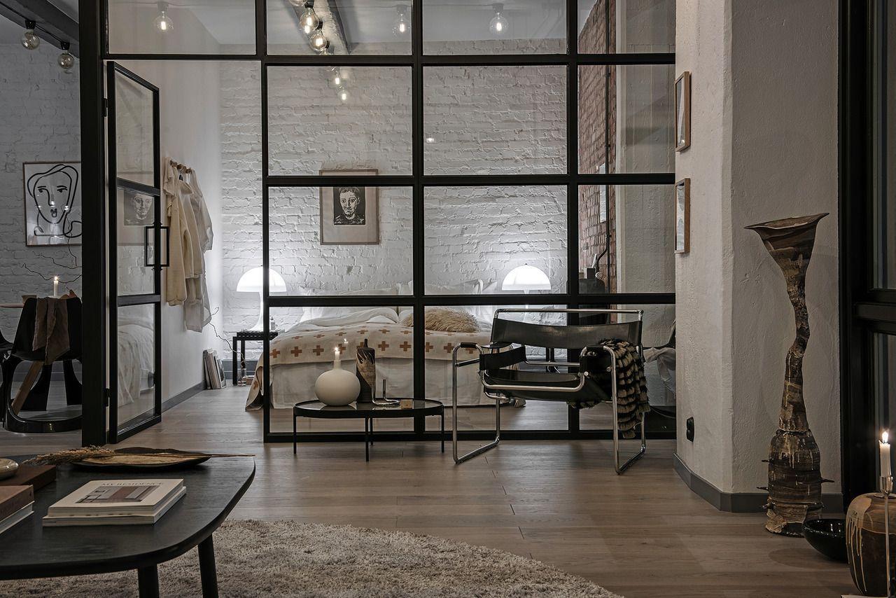 New York Style Loft Apartment In Sweden Apartment Bedroom Design