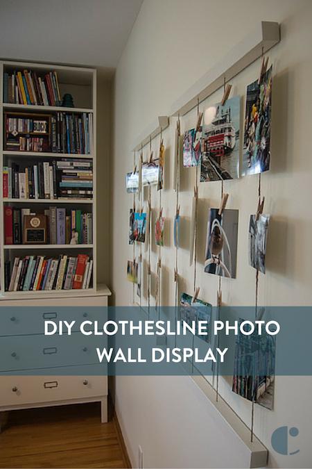 Embracing Simplicity Diy Clothesline Photo Wall Display Photo Wall Display Wall Display Home Decor