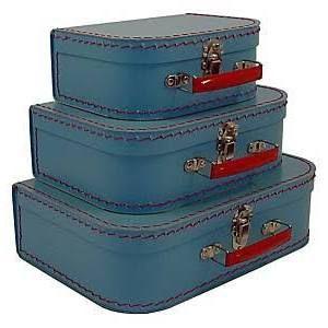 Cargo Traveler Mini Suitcases, 3 Set Soft Blue