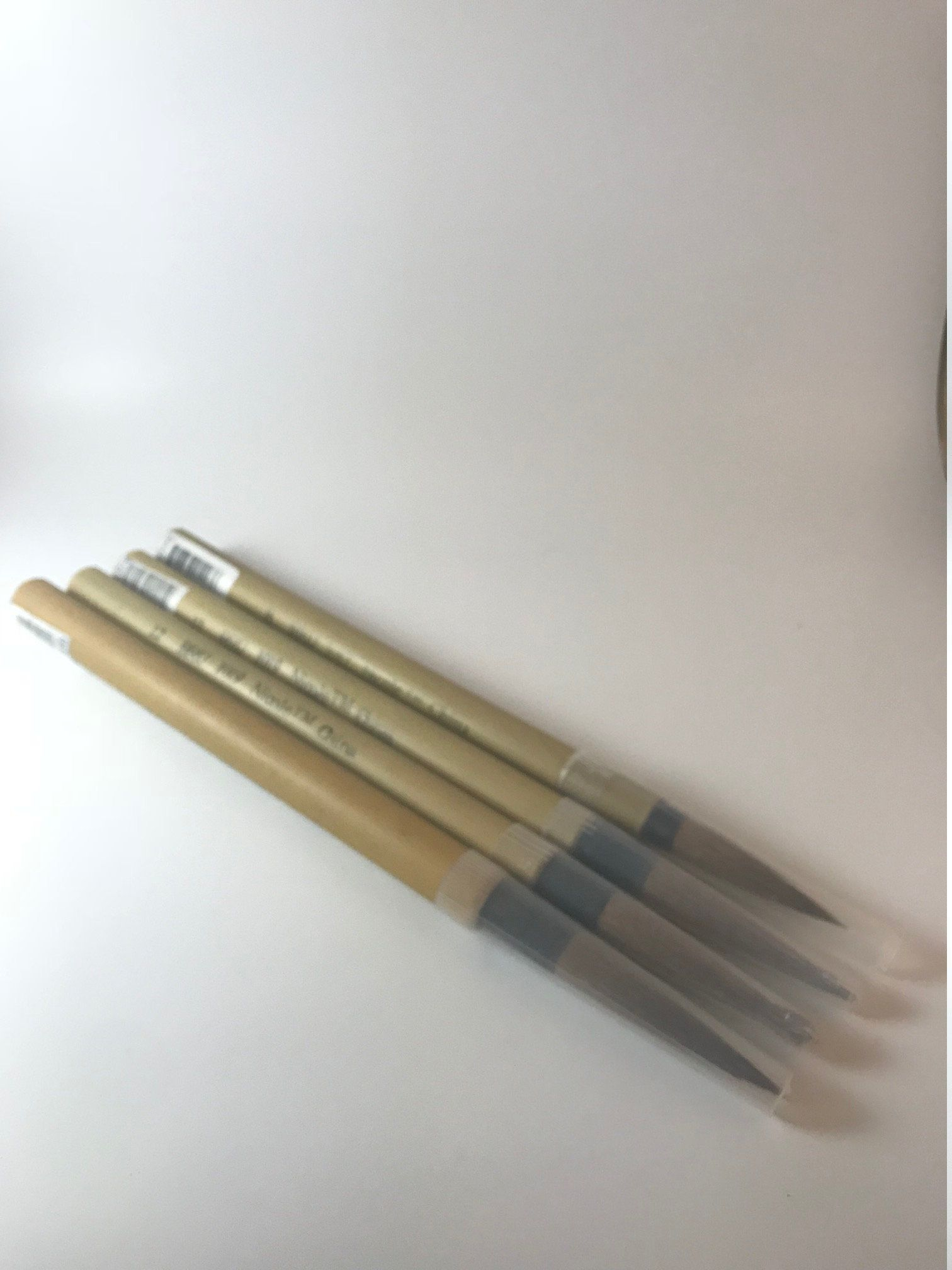 Bamboo Artist Japanese Sumi Painting Brush Set 4 Paint Brushes Ink