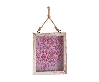 Marco de fotos en madera de abeto y vidrio Lisa - foto de 15x25 cm