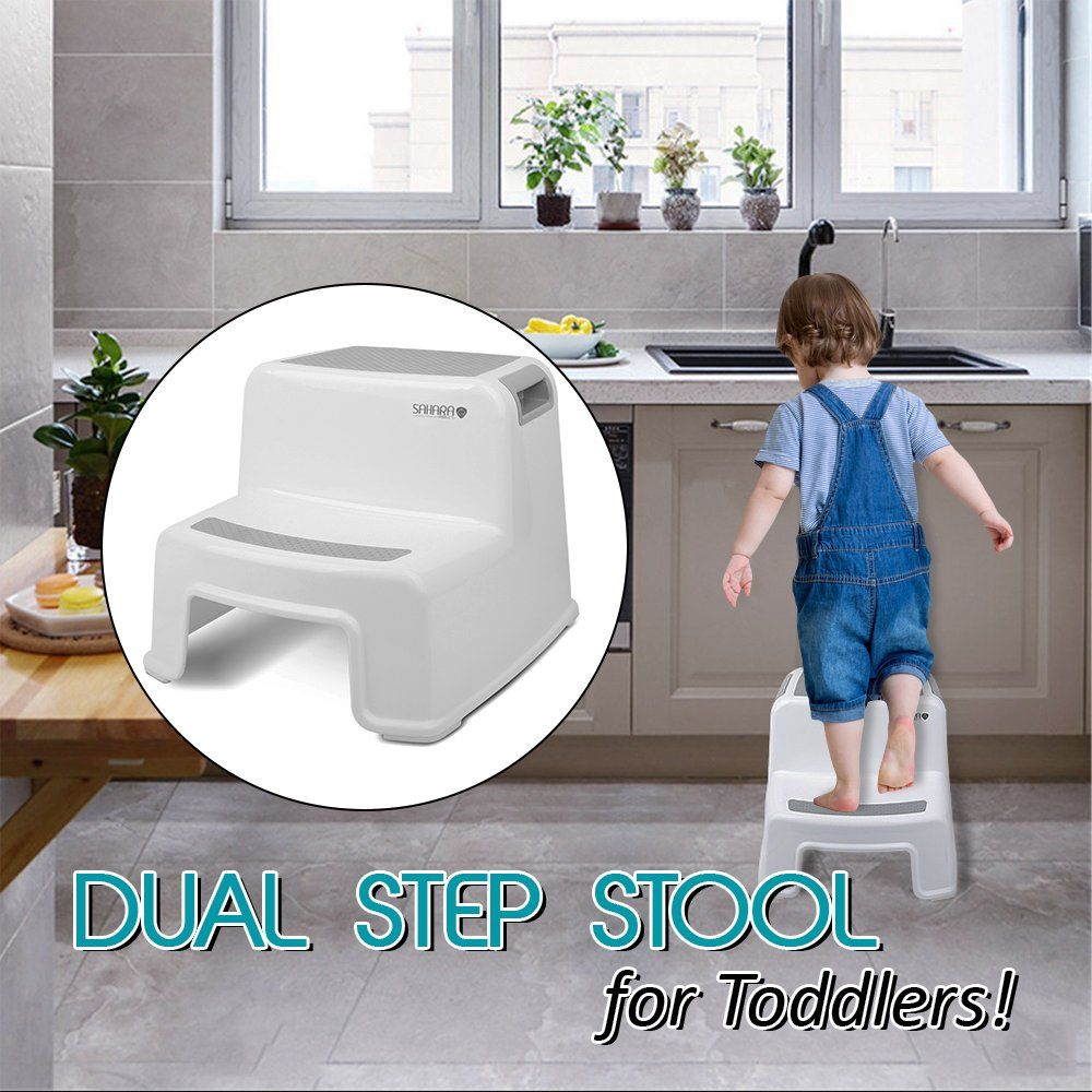 Kids Step Stool By Sahara Baby 2 Step Stool For Toddlers Antislip