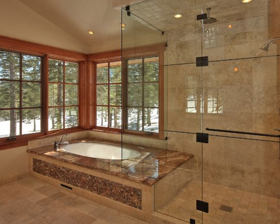 Bathroom Design Ideas Steam Shower traditional bathroom drop in jacuzzi tub ceaser stone top design