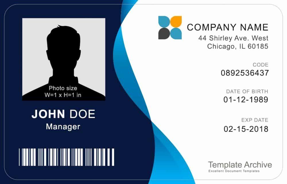 40 id card template word en 2020 de