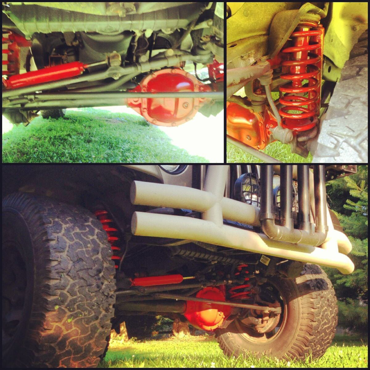 Painted Shocks Lift Kit And Differential 10 Jeep Wrangler Jeeptjsuspensiondiagram Basic Doityourself Jk Front Lifted Diy Red Paintitred Paint