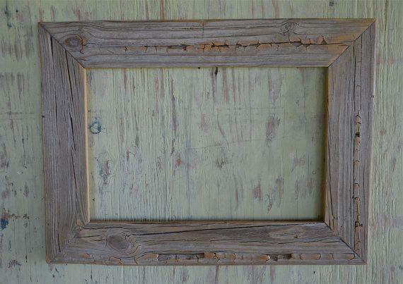 12x18 Rustic reclaimed wood picture frame | Pinterest | Reclaimed ...
