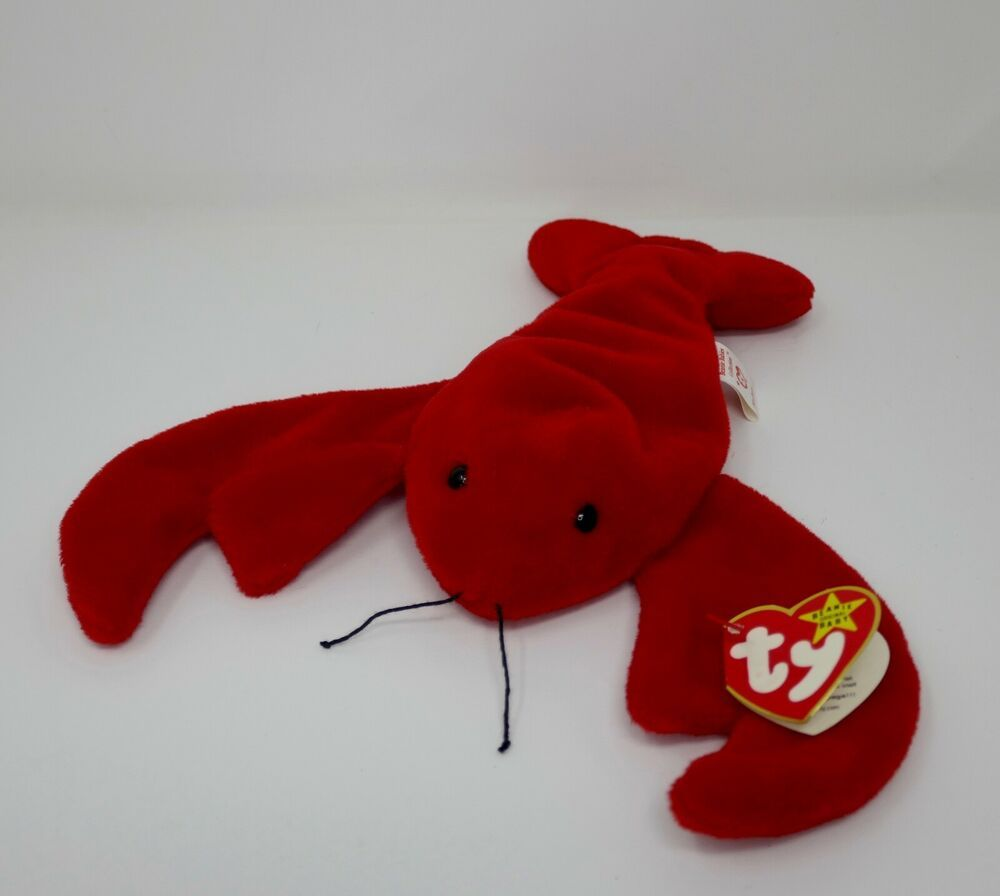 Pinchers the Lobster Ty Beanie Baby 1993 Stuffed Animal Sebastian See My Store!
