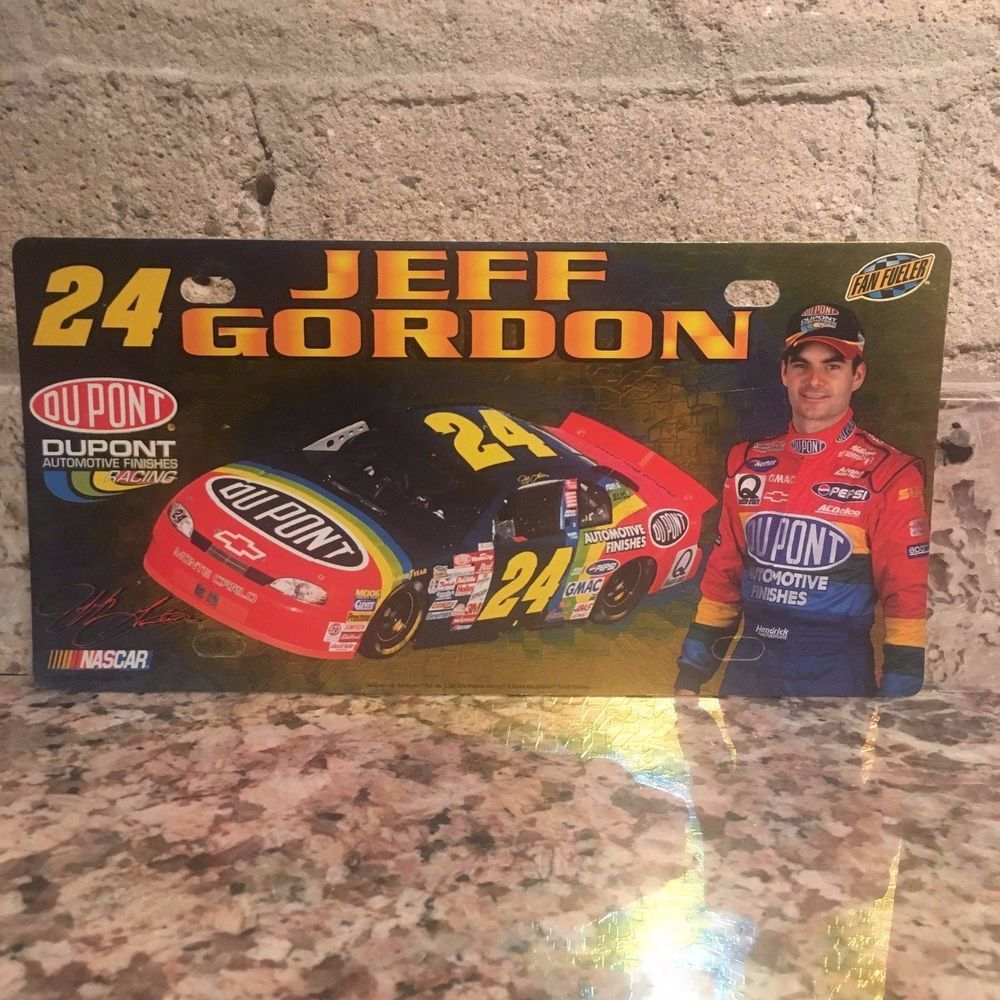 24 DuPont Racing Fan Fueler Plastic Licence Plate & Jeff Gordon No. 24 DuPont Racing Fan Fueler Plastic Licence Plate ...