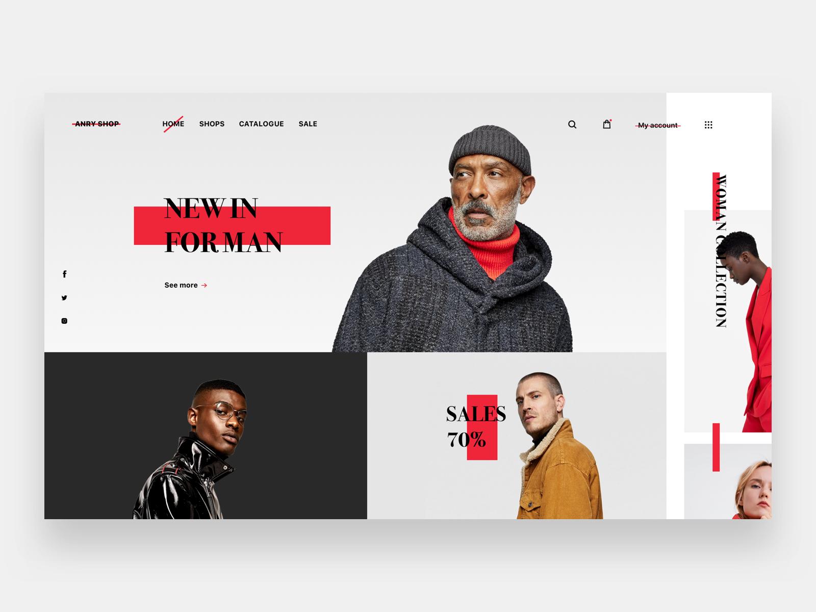 E Commerce Website Fashion Website Design Ecommerce Fashion Layout