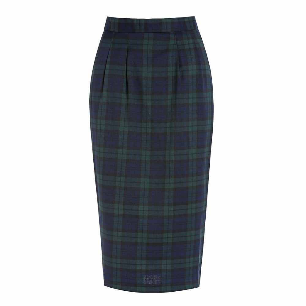 Fontaine' Navy Tartan Pencil Skirt | Vintage style, Vintage and Skirts