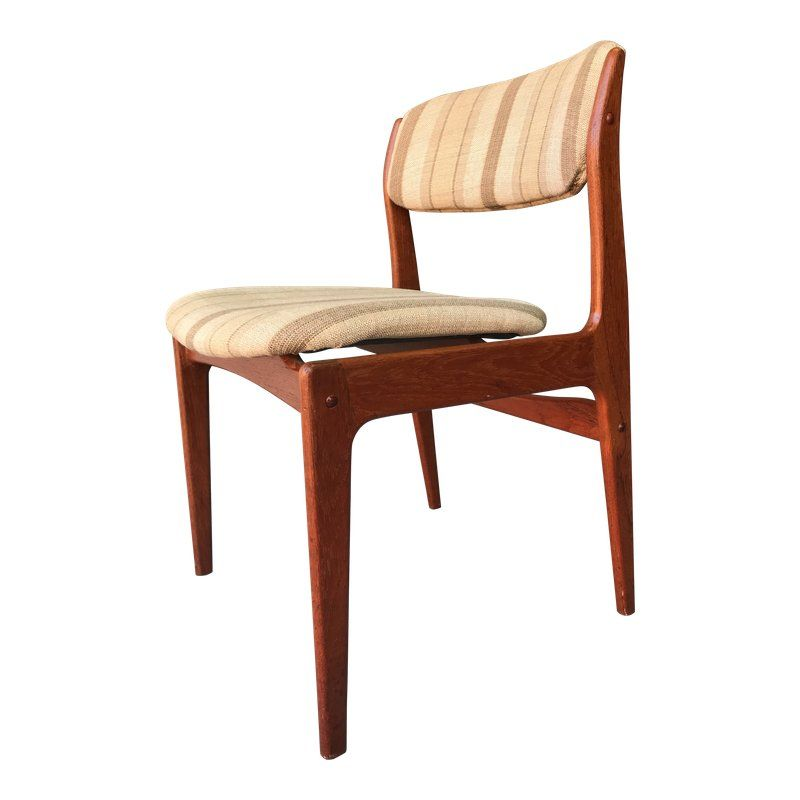 6 Mid Century Modern Woven Cord Teak Dining Chairs By Danish