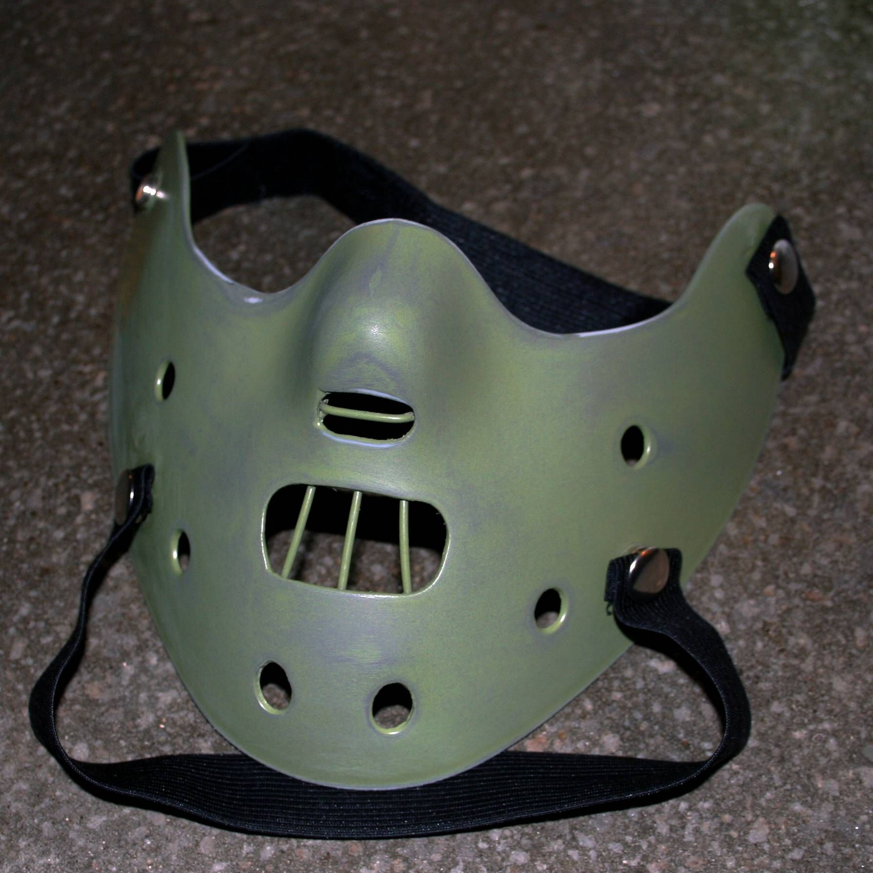 I Ve Made A Hannibal Lecter Mask From A Halloween Hockey Mask Handmade Crafts Howto Diy Hannibal Lecter Mask Halloween Costumes For Teens Hannibal