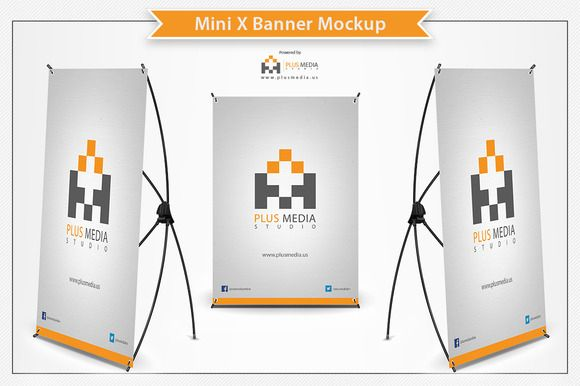 Check out Mini X Banner Mockup by Plus Media on Creative Market ...