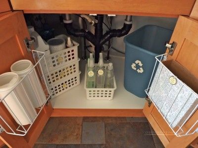 Organizing Under the Kitchen Sink Kitchen Pinterest Sinks