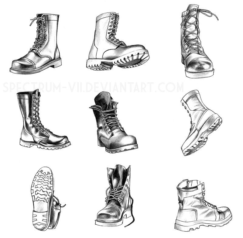 how to draw pants and shoes