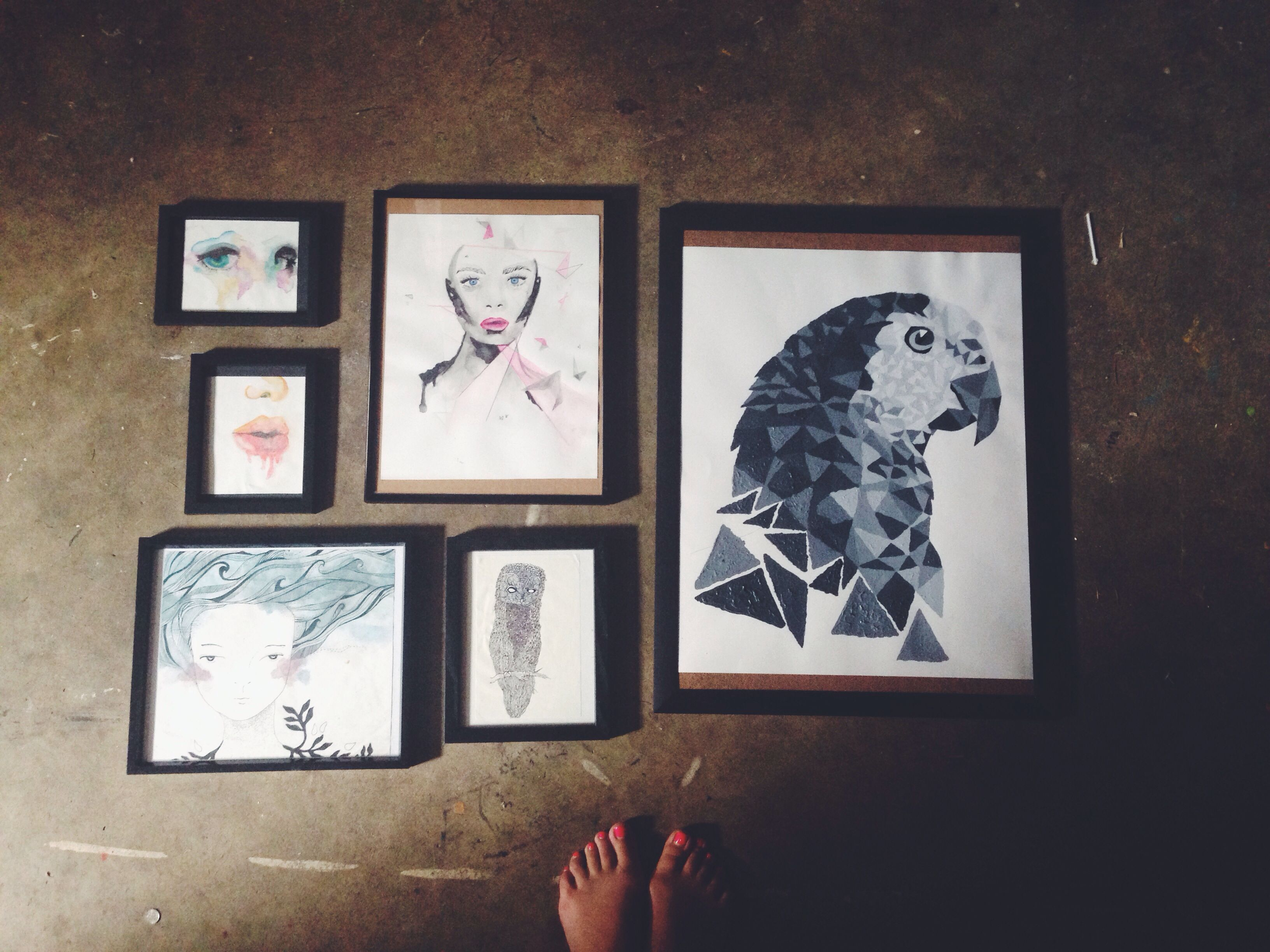 Framing And Organizing My Art For Our Future Gallery Wall