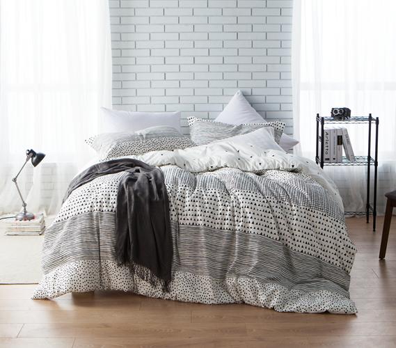 Black And White Geometric Shapes Dorm Comforter Twin Xl Dorm