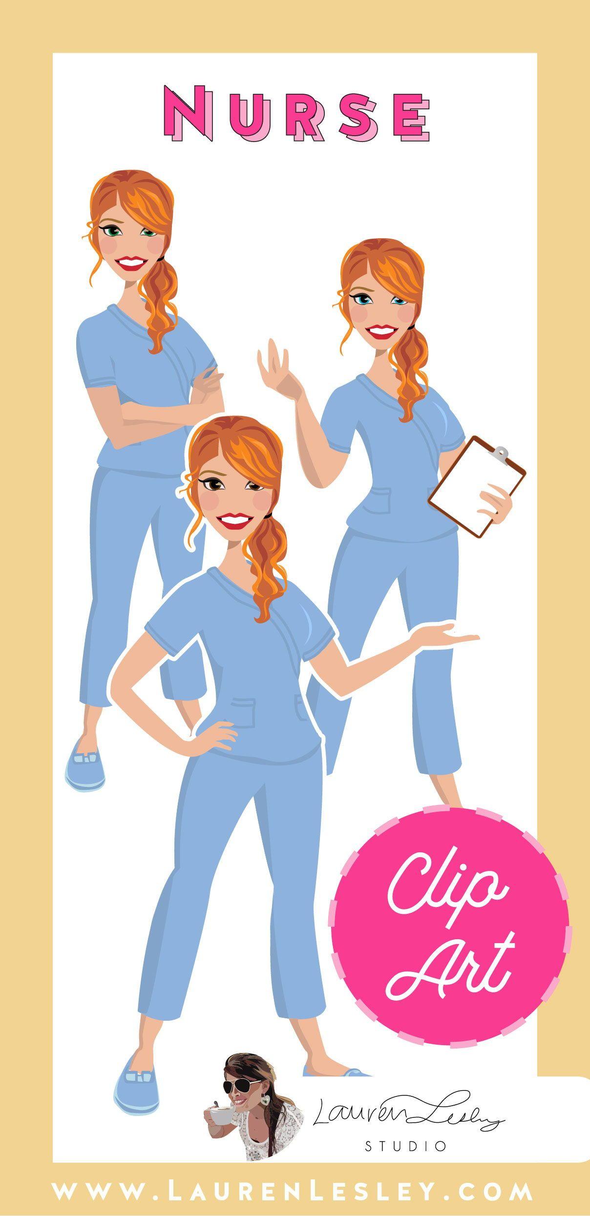 Nurse Clip Art Dahlia Clip art, Nurse clip art, Logo