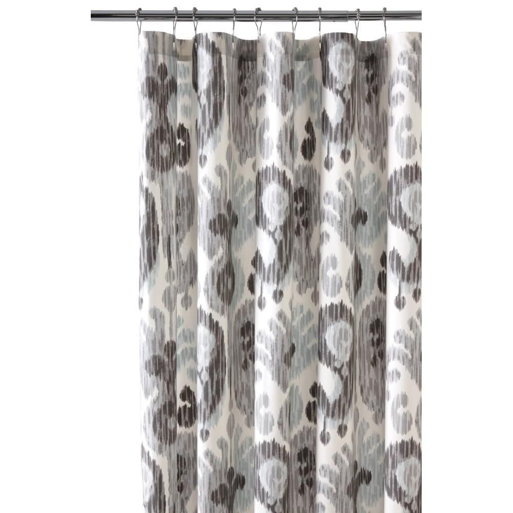 in still water grey shower curtain gray shower curtains and