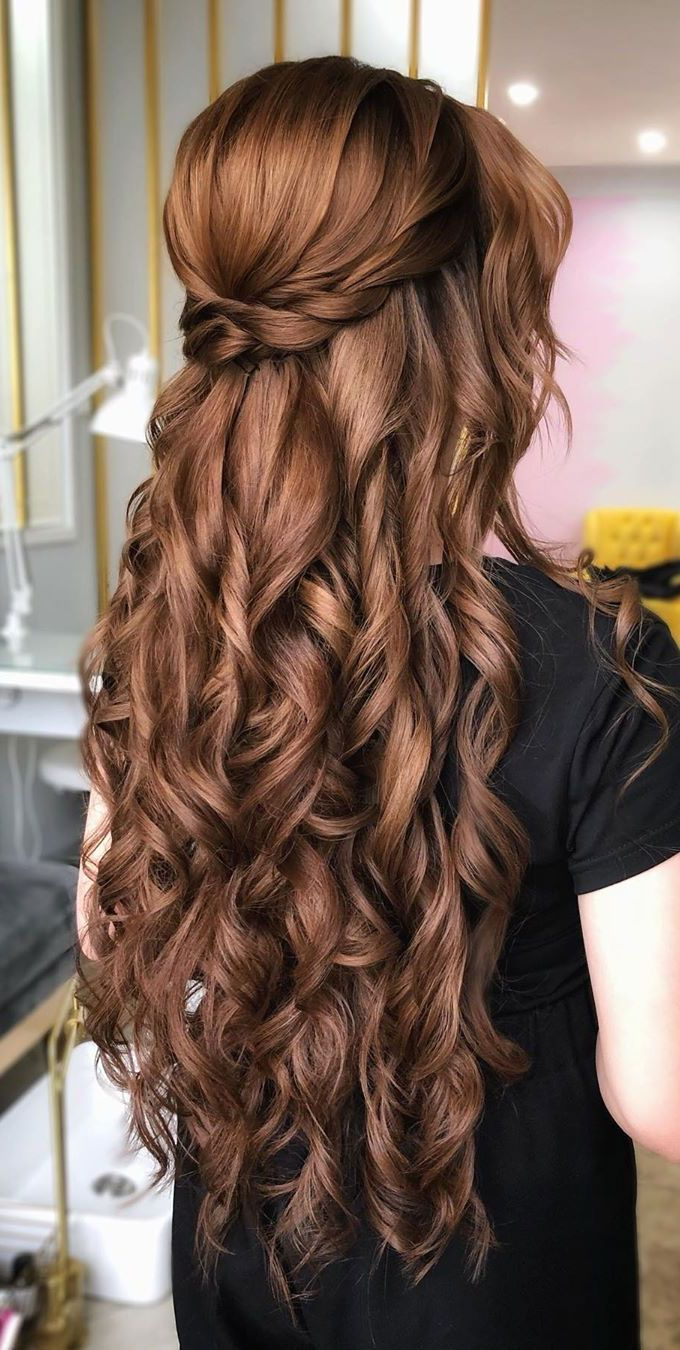 Gorgeous Half up hairstyles - 45 Stylish Ideas in 2021 ...