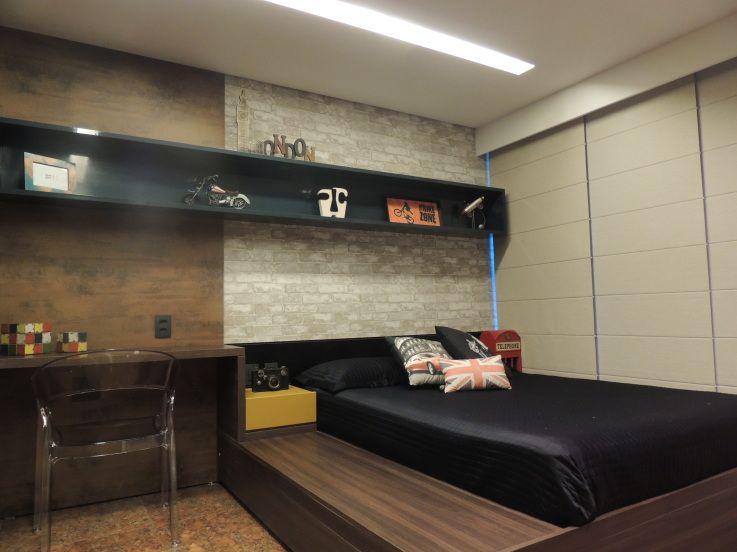Quarto Rapaz decor Pinterest Dormitorio, Interiores y Camas - diseo de interiores de departamentos