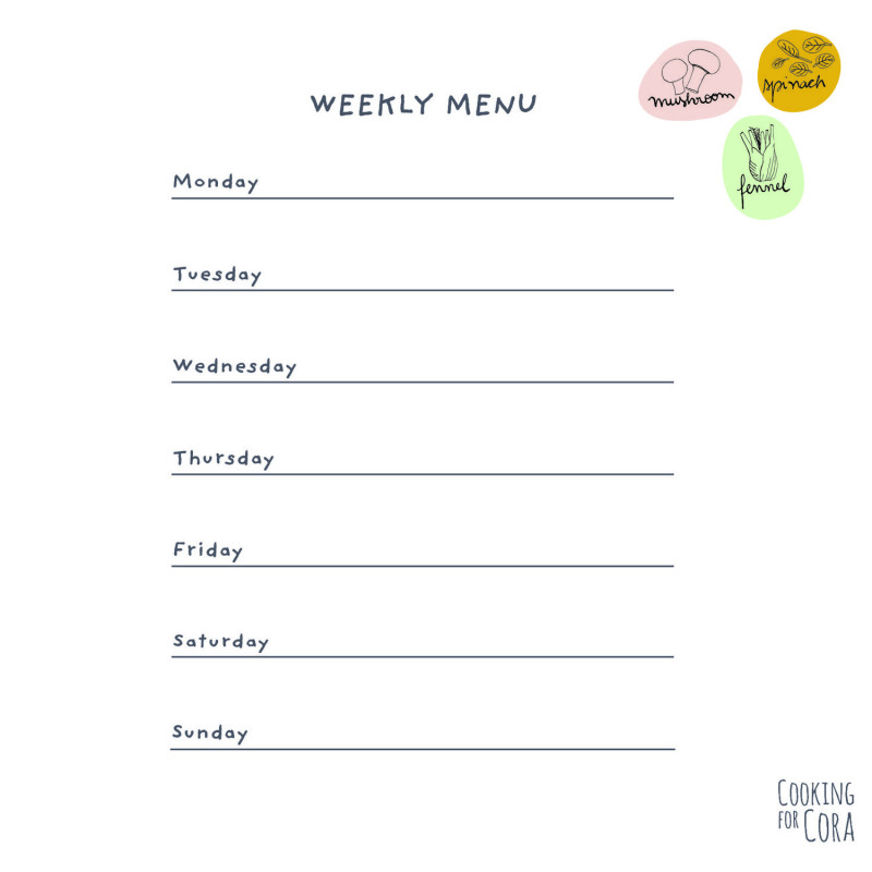 Menu Template Google Docs Unique Weekly Menu Template For