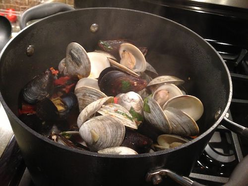 Thai Basil Mussels and Clams   Dish + Drink