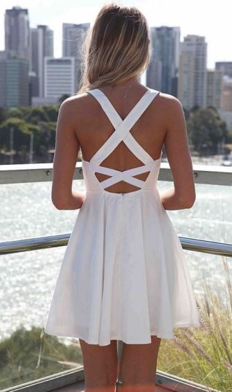 Cute White Dresses for College Graduation