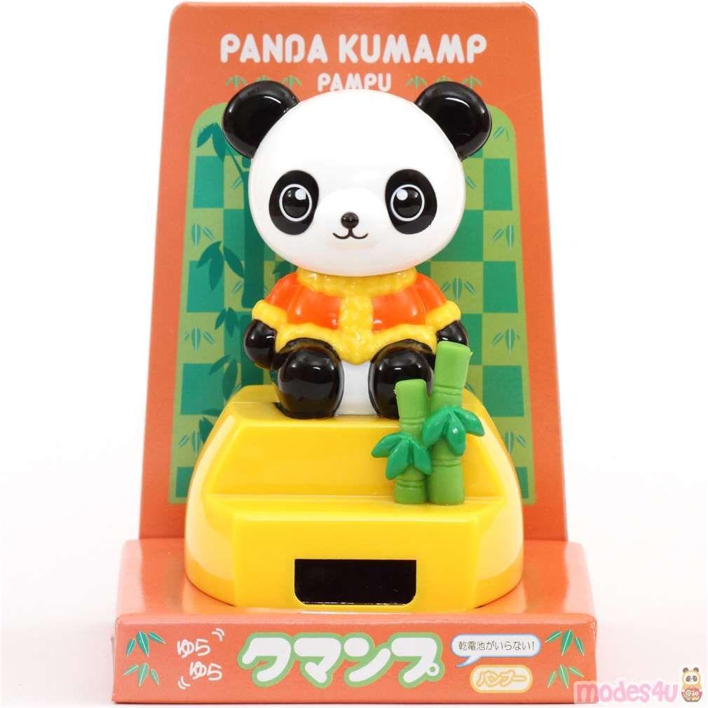 Panda Solar Powered Bobble Head Toy From Japan Solar Powered Toys Dancing Toys Solar Power