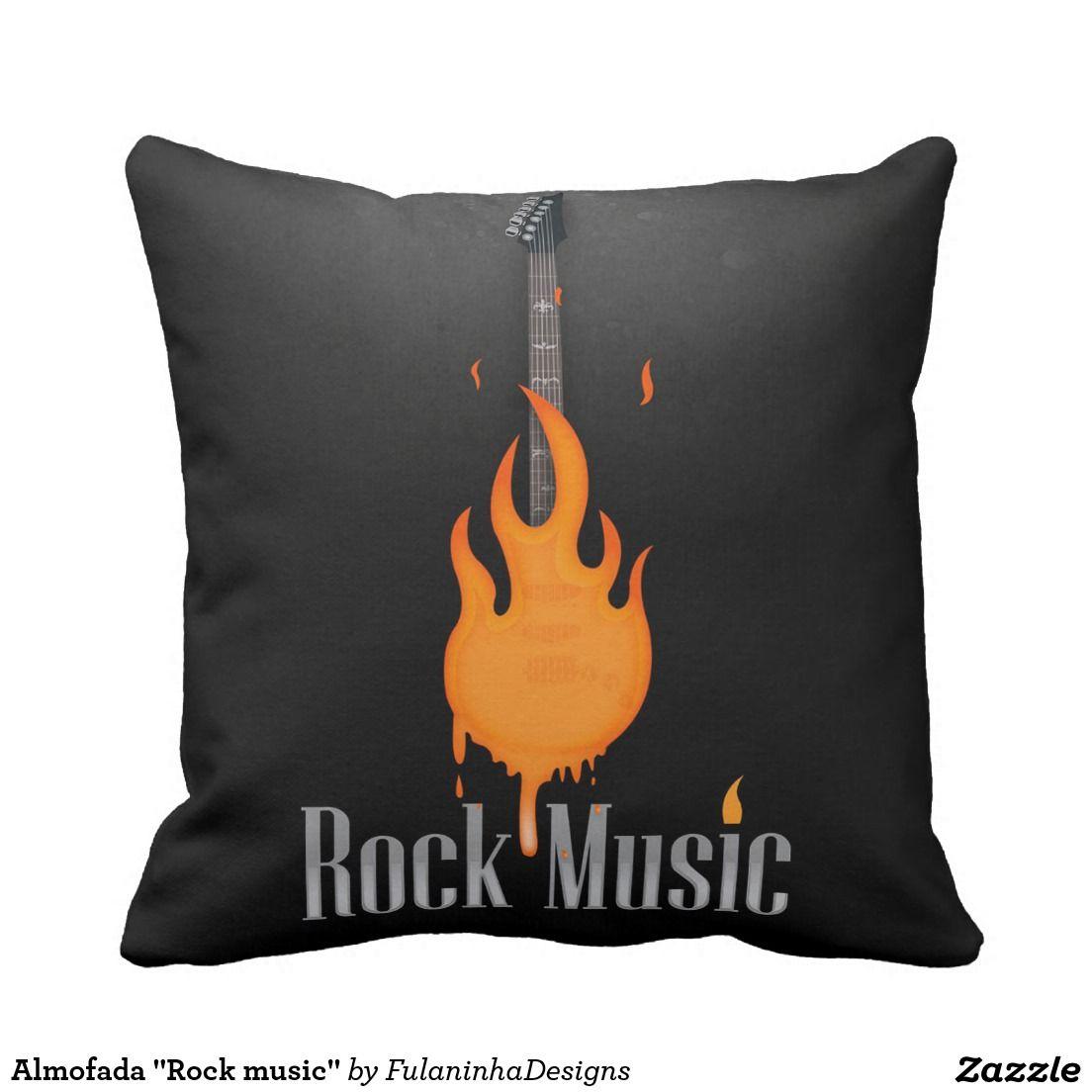 """Almofada """"Rock music"""" Travesseiro De Decoração"""