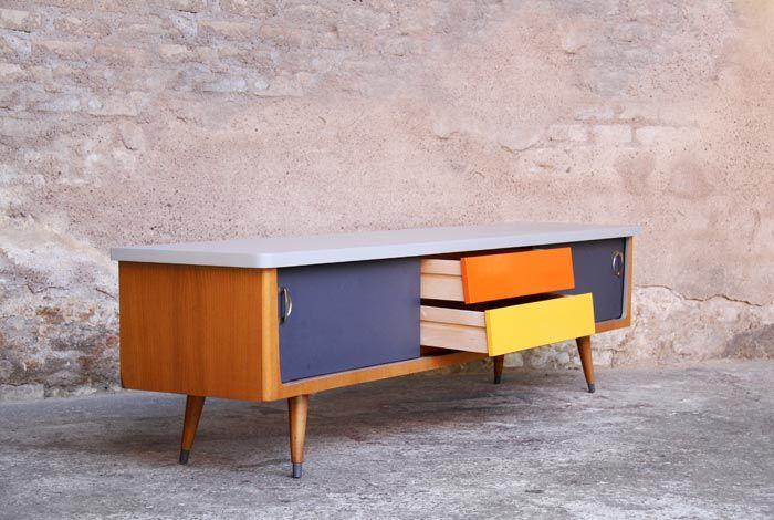 meuble tv vintage dye customisation mobilier. Black Bedroom Furniture Sets. Home Design Ideas