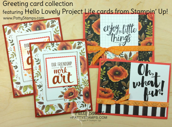 Hello lovely project life by stampin up card collection turn hello lovely project life by stampin up card collection turn project life cards into greeting cards by patty bennett pattystamps m4hsunfo