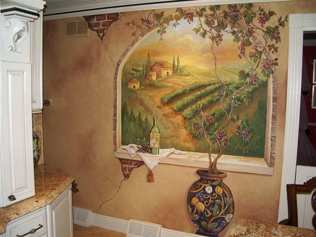 Tuscan Kitchen Mural Idea For Decor