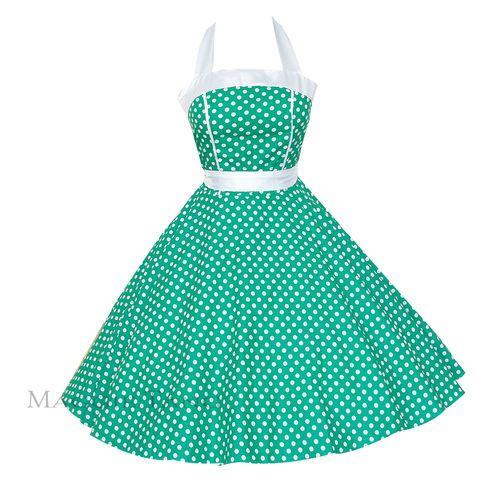 Details Zu 50er 60er Jahre Tanz Kleid Zum Petticoat Rockabilly 505
