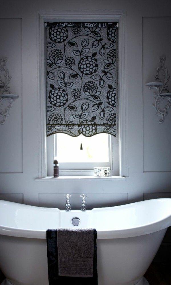 Badezimmer Vorhang Deko mit Mustern Dekoration Pinterest - vorhänge für badezimmer