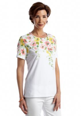 Alfred Dunner  Garden District Floral Printed Tee