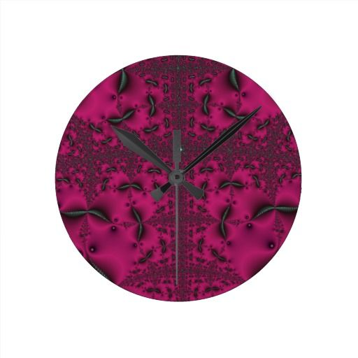 Georgeous Pink Clocks!  #geek #zazzle #store #graphic #art #shop #gift #present #customize #clock http://www.zazzle.com/fractalsbydww25921*