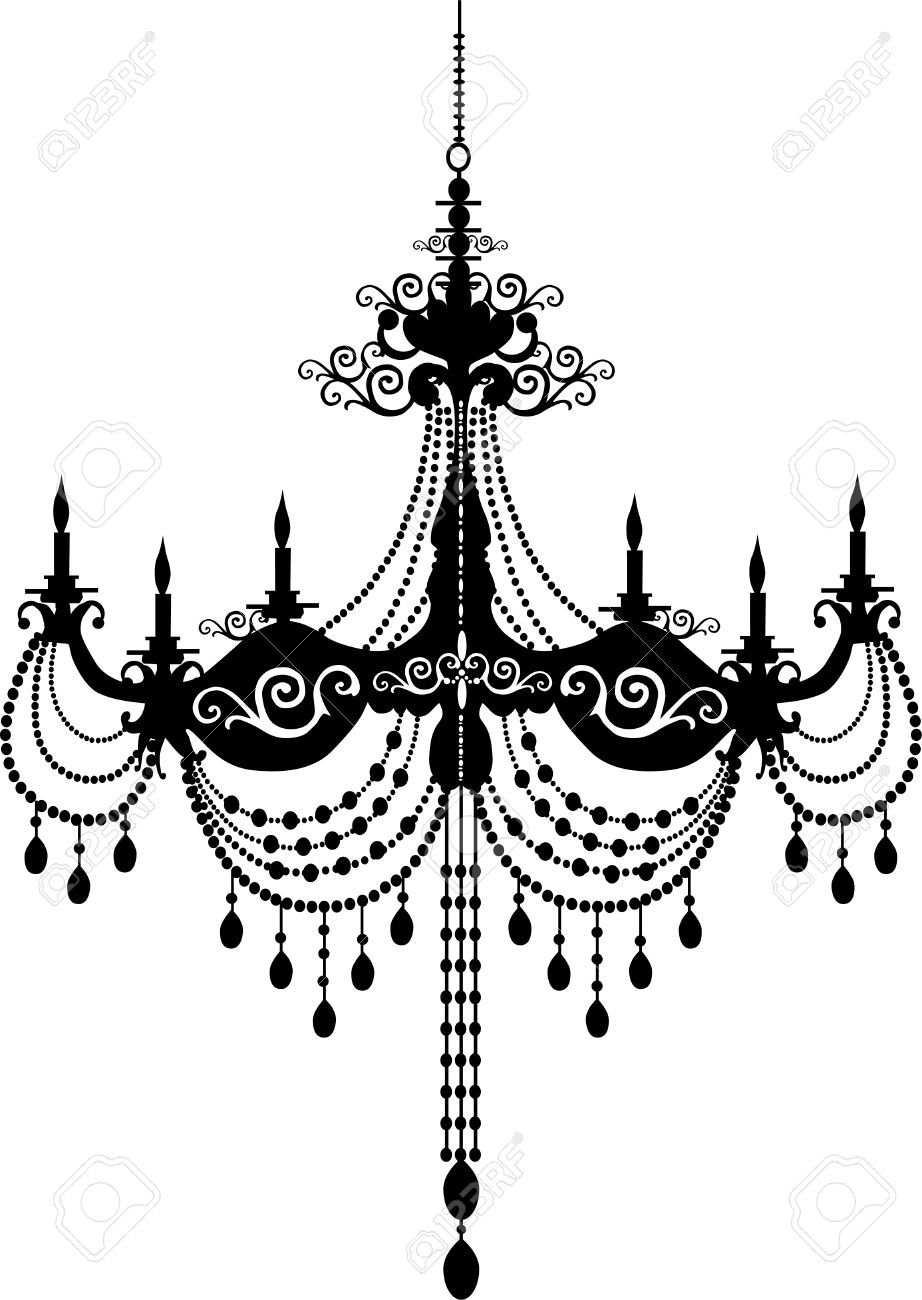 chandelier silhouette - Google Search | images | Pinterest ...