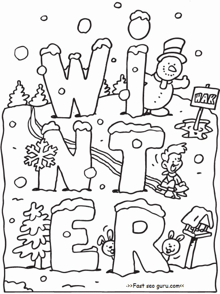 Coloring Pages Winter Activities New Printable Winter Coloring Pages For Kids Coloring Pages Winter Winter Printables Preschool Coloring Pages