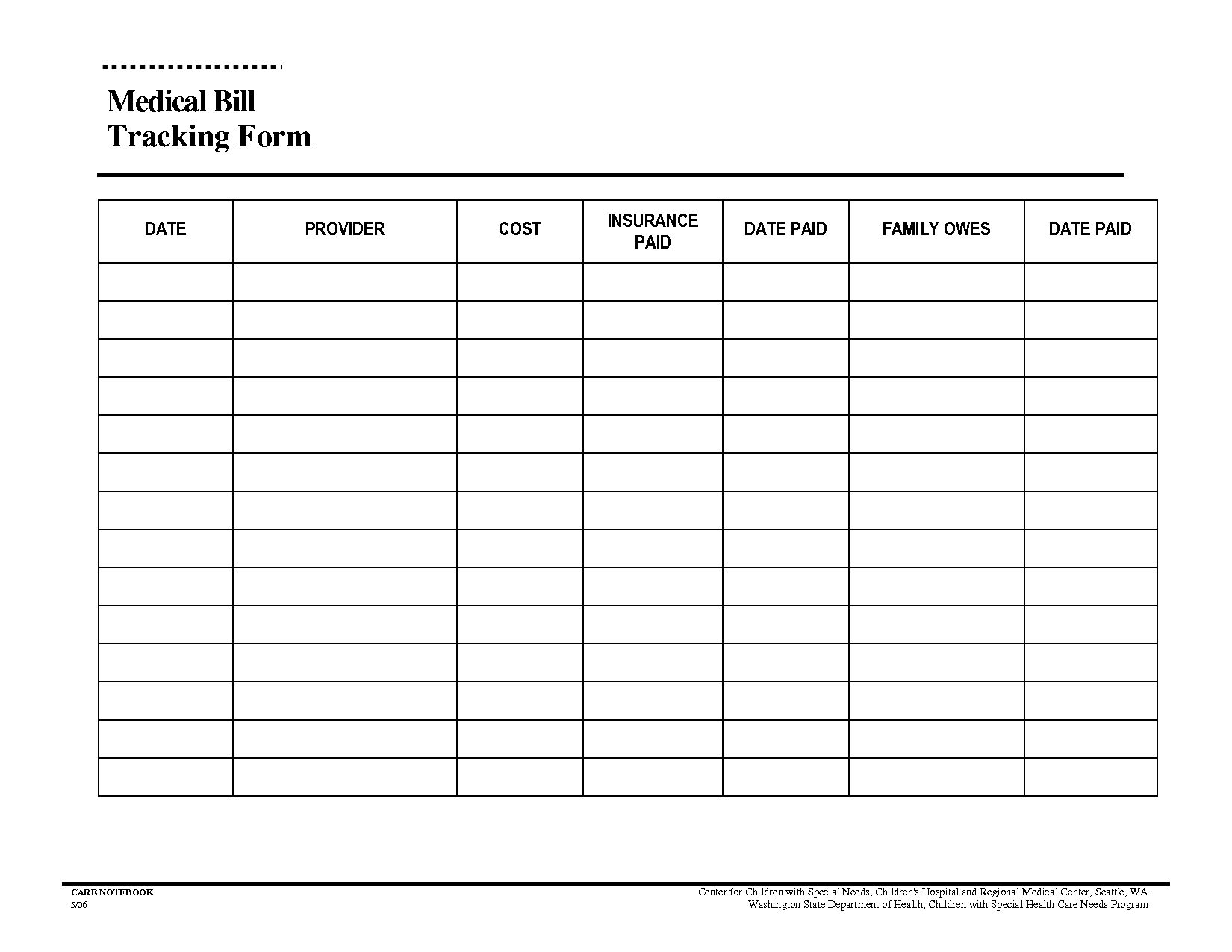 Monthly Bills Template Spreadsheet Bill Free Printable Bud